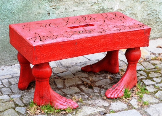 red-outdoor-art-installations-abound-in-the-historical-centre-of-the-town
