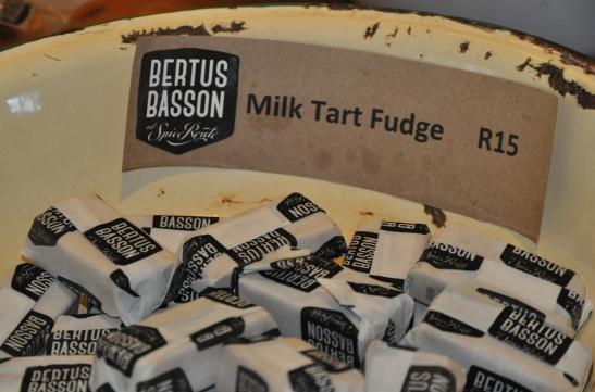 Many children in South Africa grew up with milk tart and fudge but Bertus Basson has amalgamated the two sweet concepts