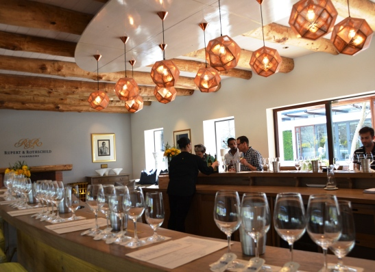 Wine tasting at Rupert & Rothschild