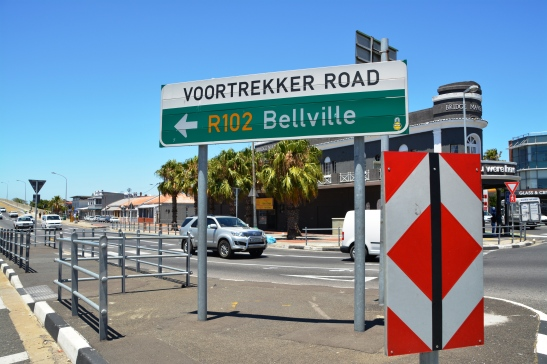 The start of Voortrekker Road at Salt River Circle