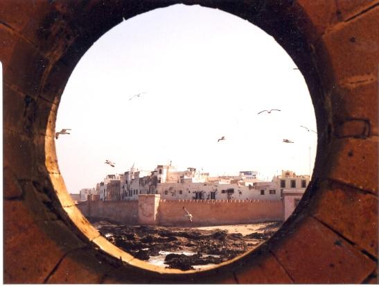 Uitsig van die hawe oor Essaouira