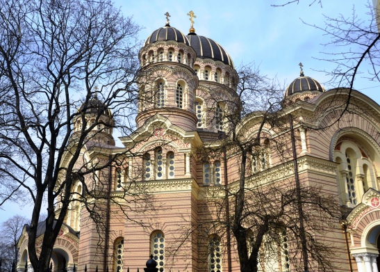 Attend a mass at the Russian Orthodox Church in Riga amidst valuable and impressive icons