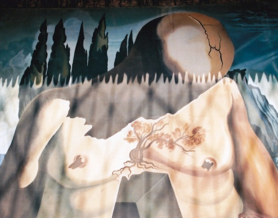 Een van Dali se werke van etlike meters hoog