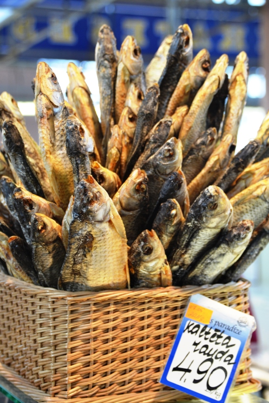 When you walk into Central Market there is an overwhelming smell of dried and smoked fish