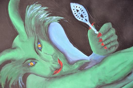 Die Groen Feetjie met 'n absintlepel