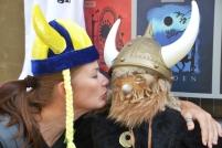 Vicki chats up a Viking