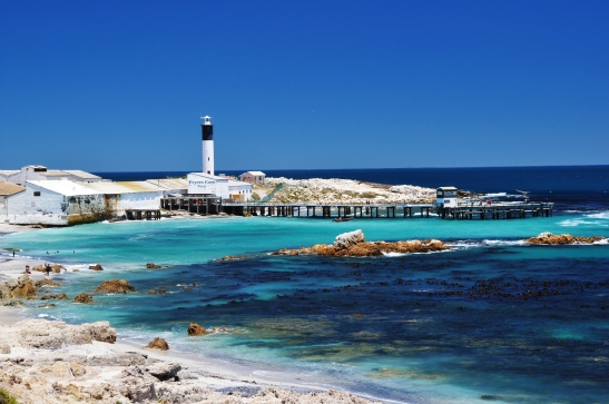 At Doringbaai you have a view over the lighthouse and the bay whilst sipping wine on the jetty