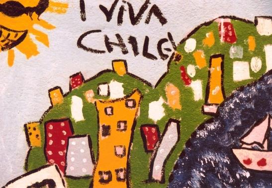 Trots Chileens in die strate van die stad