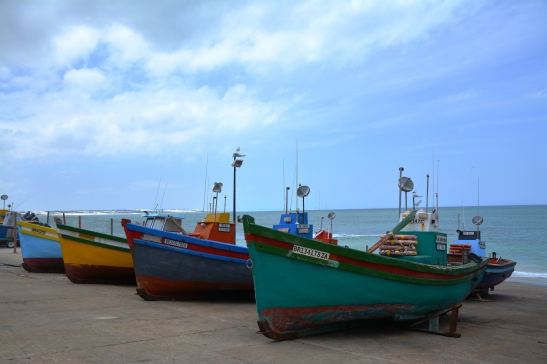 Die vissershawe by Arniston waar al die bote se name vir Maria vertaal moes word