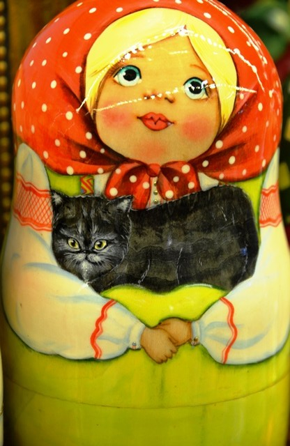 Matryoshka Nesting Dolls are a popular symbol or Russia