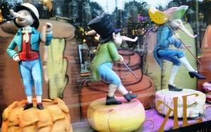 The quirky window display of Yeliseev Deli evokes many smiles