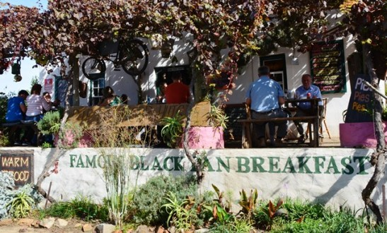 Napier Farm Stall is famous for their black pan breakfast, not only because it's a hangover cure