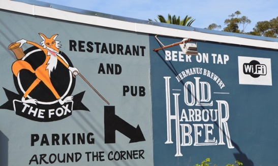 When you enter Napier from Cape Town the first place that beckons you inwards is The Fox Restaurant and Pub