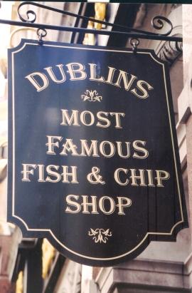 Jy kan nie Dublin toe gaan en nie vis en tjips eet nie