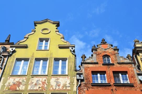 Baie van Gdansk se geboue het verstommende detail