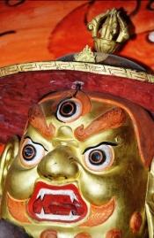By Chaonglin Tempel is verskeie kleiner tempels - en 'n 'uitstalling' van maskers