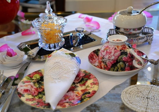 High tea is a fancy affair served in the lounge cum dining room