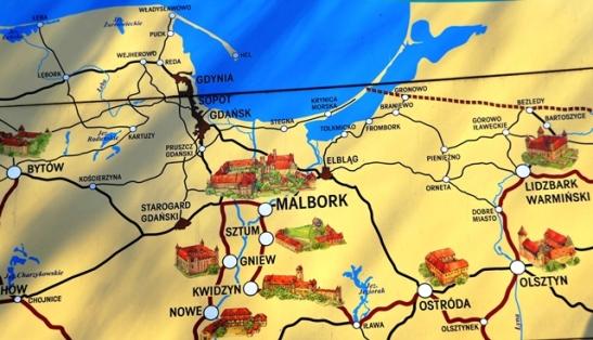 Kaart van Malbork