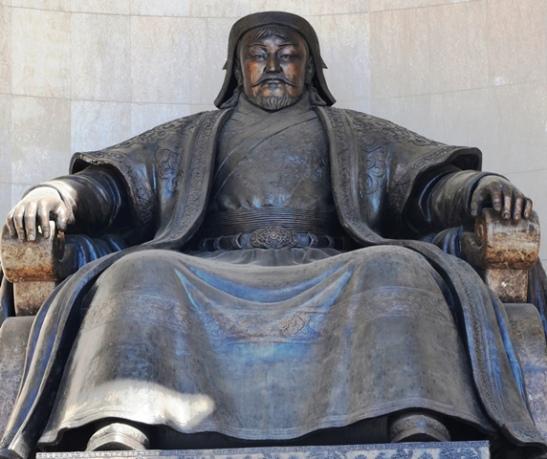 'n Reuse standbeeld op Sukhbaatar-plein