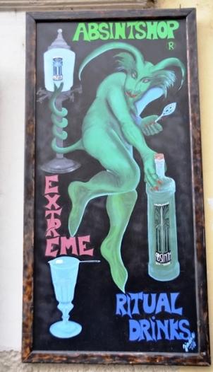 By die Absinth Shop in Praag word selfs kosjer absint verkoop