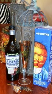 Vincent van Gogh word gereeld op absintetikette uitgebeeld