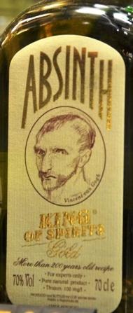 Vincent van Gogh word op die King of Spirits absint uitgebeeld