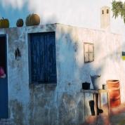 Die muurskilderye is lewensgetrou aan die leefstyl wat 'n klein dorpie bied