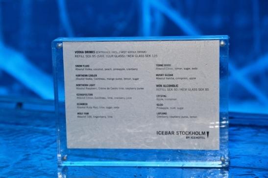 Die wodka-drankies wat jy by die Ice Bar kan bestel