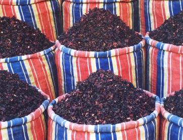 Kharkade (hibiskustee) word per skeppie verkoop