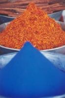 Kobaltblou Kleursel en Vurige Saffraan