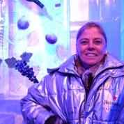 Vriendin Seugnet in die Ice Bar in Praag