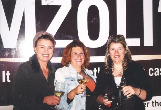 Three whities from Paarl having a ball at Mzoli's