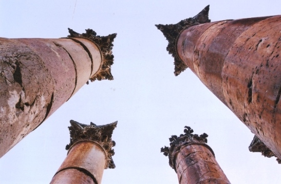 Jerash se imposante pilare