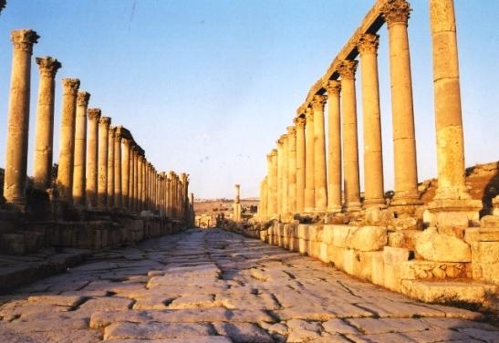 Jerash se wandelgang