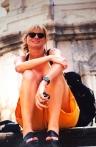 2000: Phoebe op kliptrappe in Dubrovnik