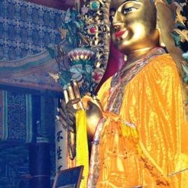 By die Lama-tempelkompleks kan jy nie by al die tempels ingaan nie, maar vanaf die sydeure kan jy genoeg sien om jou aan te vergaap