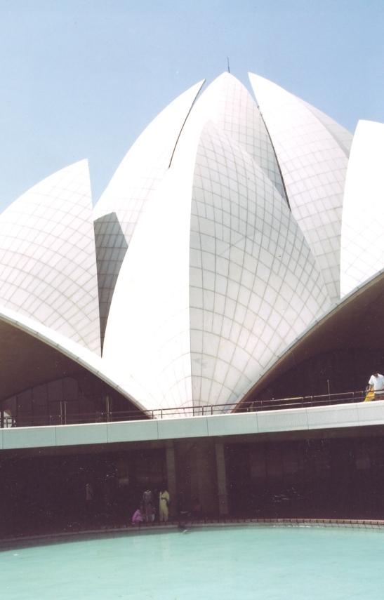 Die Bahia-tempel in Delhi