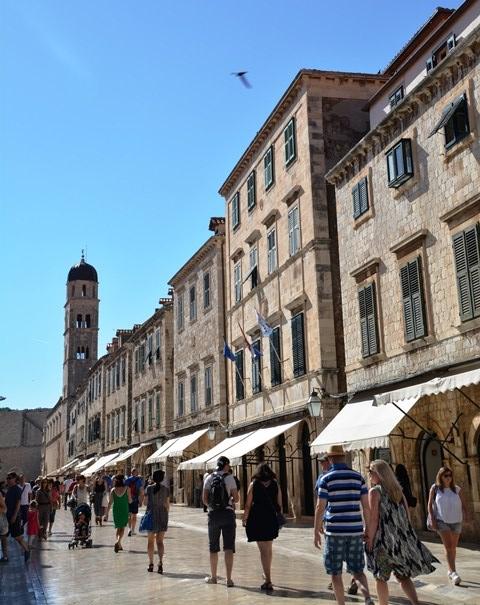 In Meimaand is dit nog relatief stil in Dubrovnik; eers daarna is dit piekseisoen