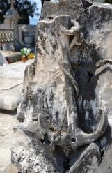 'n Visserman se graf in die begraafplaas bo-op die heuwel in Hvar