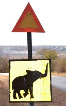 Pasop vir olifante in die pad