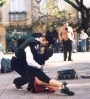 Buite Bar Plaza Dorrego tree tango-kunstenaars elke dag op