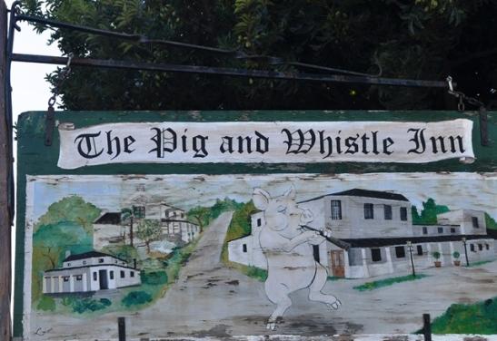 Dans 'n riel saam met 'n vark by The Pig and Whistle