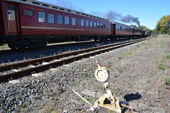 By Elgin Stasie verkyk almal met die af- en opklim hulself weer aan die lokomotiewe en ou treinwaens