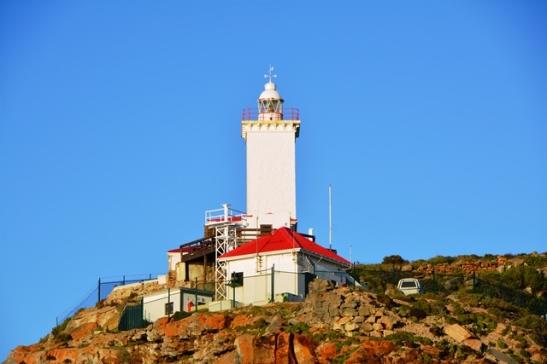 Die Kaap St Blaize-vuurtoring in Mosselbaai