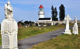 Hood Point Lighthouse has a little 'hat' that looks like a fez