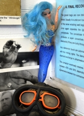 A blue-haired mermaid Barbie has found a home at the Port Nolloth Museum
