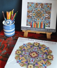 At De Malle Meul they have mandala coloring books for older children - or adults - for sale