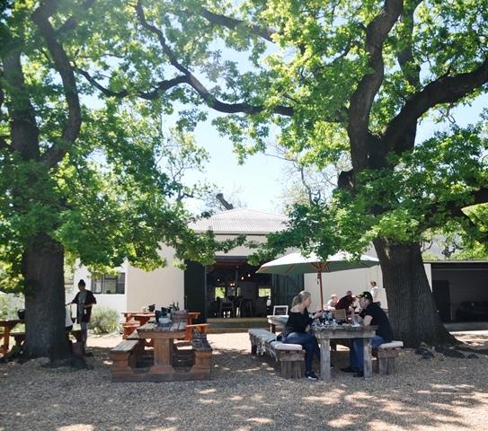By Eikehof sit jy onder akkerbome; sonder dat jy weet loer die uile van bo na jou
