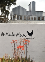 De Malle Meul is inside what used to be a working mill - it now houses a small art gallery that focuses on mandala art and a restaurant