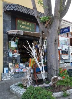 In die hartjie van Knysna skuil 'n boekwinkeltjie genaamd Grandma's Cupboard agter 'n boom